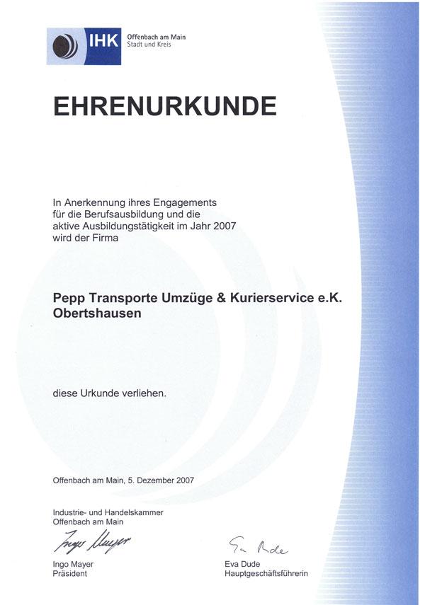Pepp newsdetails ihk w rdigt besonderes engagement der for Ihk offenbach