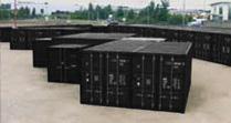 Container-Self-Storage Einheiten im Aussenbereich
